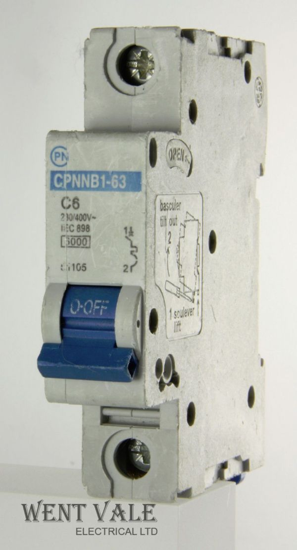 CPN CPNNB1-63 - 6a Type C Single Pole MCB Used